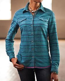 Ryan Michael Women's Aztec Stripe Western Shirt