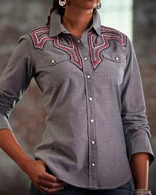Ryan Michael Women's Santa Fe Chambray Shirt