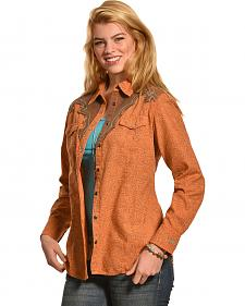 Ryan Michael Women's Bandana Print Shirt