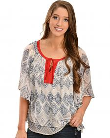 Ariat Women's Lucinda Printed Poly Chiffon Tunic