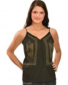Red Ranch Women's Brass Stud Cami