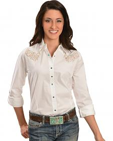 Wrangler Rock 47 Women's Embroidered Yokes Western Shirt