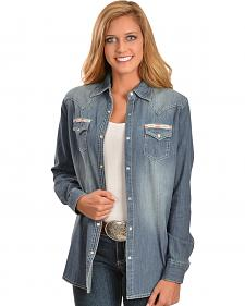 Wrangler Women's Premium Patch Denim Shirt