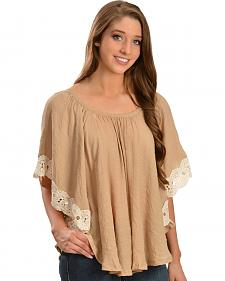 Wrangler Women's Crochet Lace Trim Tunic