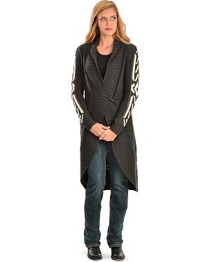 White Crow Gabby Aztec Black Cardigan
