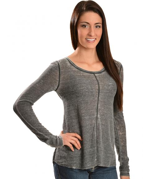 White Crow Women's Whisper Black Washed Top