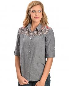 White Crow Women's Aztec Print Long Sleeve Shirt