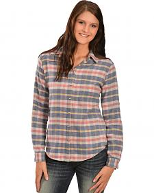 White Crow Women's Harvest Moon Plaid Flannel Shirt