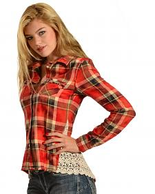 White Crow Women's Can't Stop Red Plaid Top