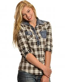 White Crow Women's Stardust Plaid Shirt