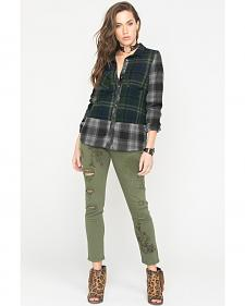 White Crow Women's Raven Plaid Shirt