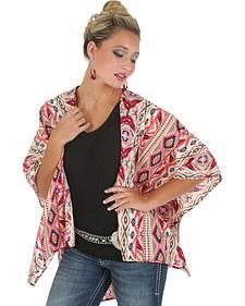 Wrangler Rock 47 Women's Kimono Lace Inset Cardigan