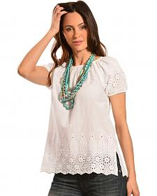 Red Ranch Women's Cotton Eyelet Top