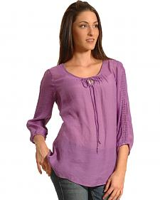 New Direction Sport Women's Crochet Sleeve Tunic
