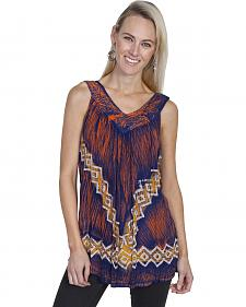 Scully Honey Creek Aztec Printed Tank