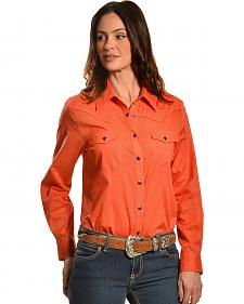 Red Ranch Women's Swiss Dot Western Shirt