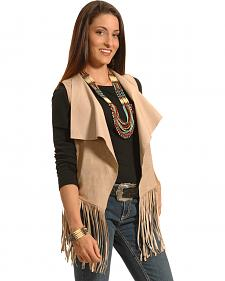 White Crow Women's Moccasin Crying Wolf Fringe Vest