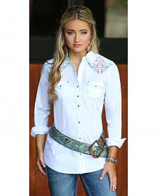 Wrangler Rock 47 Women's Embroidered Long Sleeve Shirt