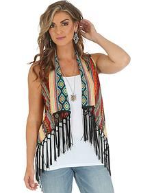 Wrangler Women's Southwestern Fringe Vest