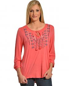 Tantrums Women's Embroidered Peasant Top