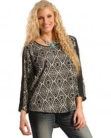 Tantrums Women's Aztec Hi-Low Popover Blouse