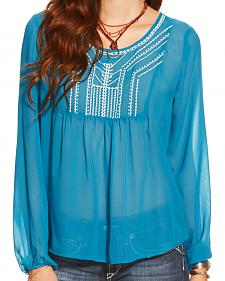 Ariat Women's Celestial Blue Molly Chiffon Top
