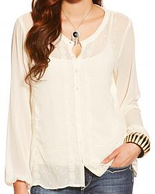 Ariat Women's Whisper White Lilly Top