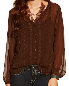 Ariat Women's Dark Chocolate Lilly Top