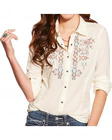 Ariat Women's Ivory Hatch Western Shirt
