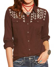 Ariat Women's Dark Chocolate Amy Western Snap Shirt