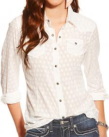 Ariat Women's White Carol Snap Shirt
