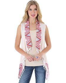Wrangler Rock 47 Women's Cropped Pom Pom Vest
