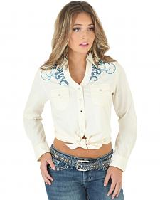 Wrangler Rock 47 Women's Embroidered Snap Shirt