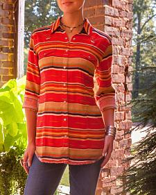 Ryan Michael Women's Serape Stripe Western Shirt