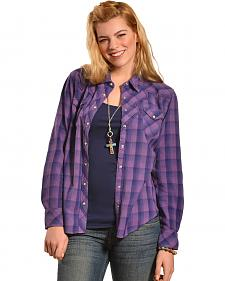 Ryan Michael Women's Fancy Yoke Plaid Shirt
