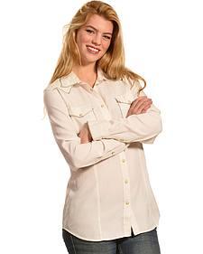 Ryan Michael Women's Whip-Stitch Silk Cotton Shirt