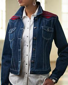 Ryan Michael Women's Navajo Yoke Denim Jacket