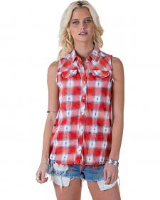 White Crow Dylan Plaid Sleeveless Top