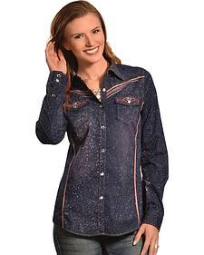 Crazy Cowboy Women's Glitz Western Snap Shirt