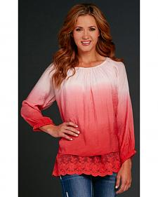 Cowgirl Up Ombre Finish Poet Top