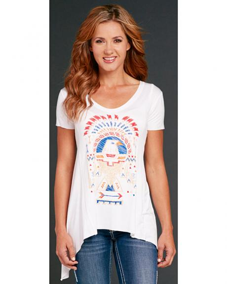 Cowgirl Up Eagle Print Short Sleeve Top