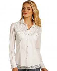 Panhandle Slim Women's Metallic Embroidered Shirt