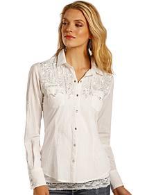 Panhandle Slim Women's Metallic Embroidered Shirt
