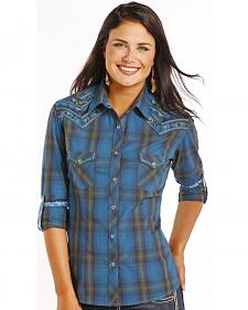 Rough Stock by Panhandle Slim Women's Kentsdale Vintage Plaid Shirt