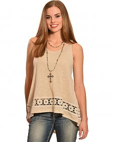 Jody of California Women's Crochet Tank Top