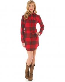 Wrangler Women's Buffalo Plaid Shirt Dress