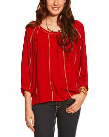 Ariat Women's Red Ali Challis Top