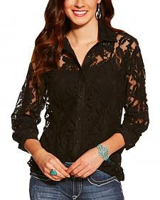 Ariat Women's Black Lace Snap Shirt