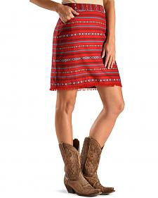 Ryan Michael Women's Cherry Navajo Blanket Skirt