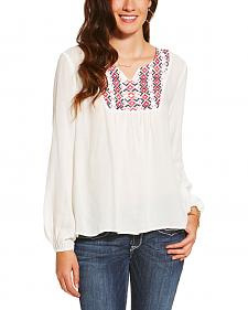 Ariat Women's White Clovis Top